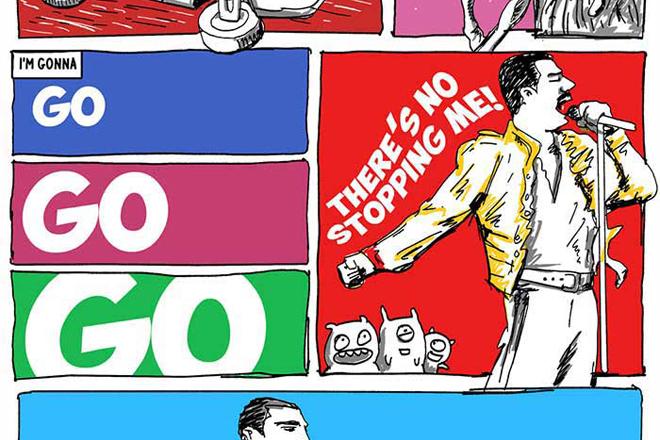 'Don't Stop Me Now', do Queen, traduzida em quadrinhos ...