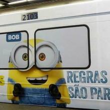 Minions-Metrô_Rio de Janeiro_1