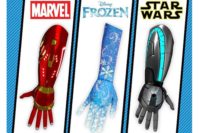 Empresa cria próteses de mao inspiradas em heróis e princesas da Disney
